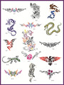 Template tattoo golden phoenix NO.06 airbrush tattoo stencils big size picture 15pcs Totem theme picture