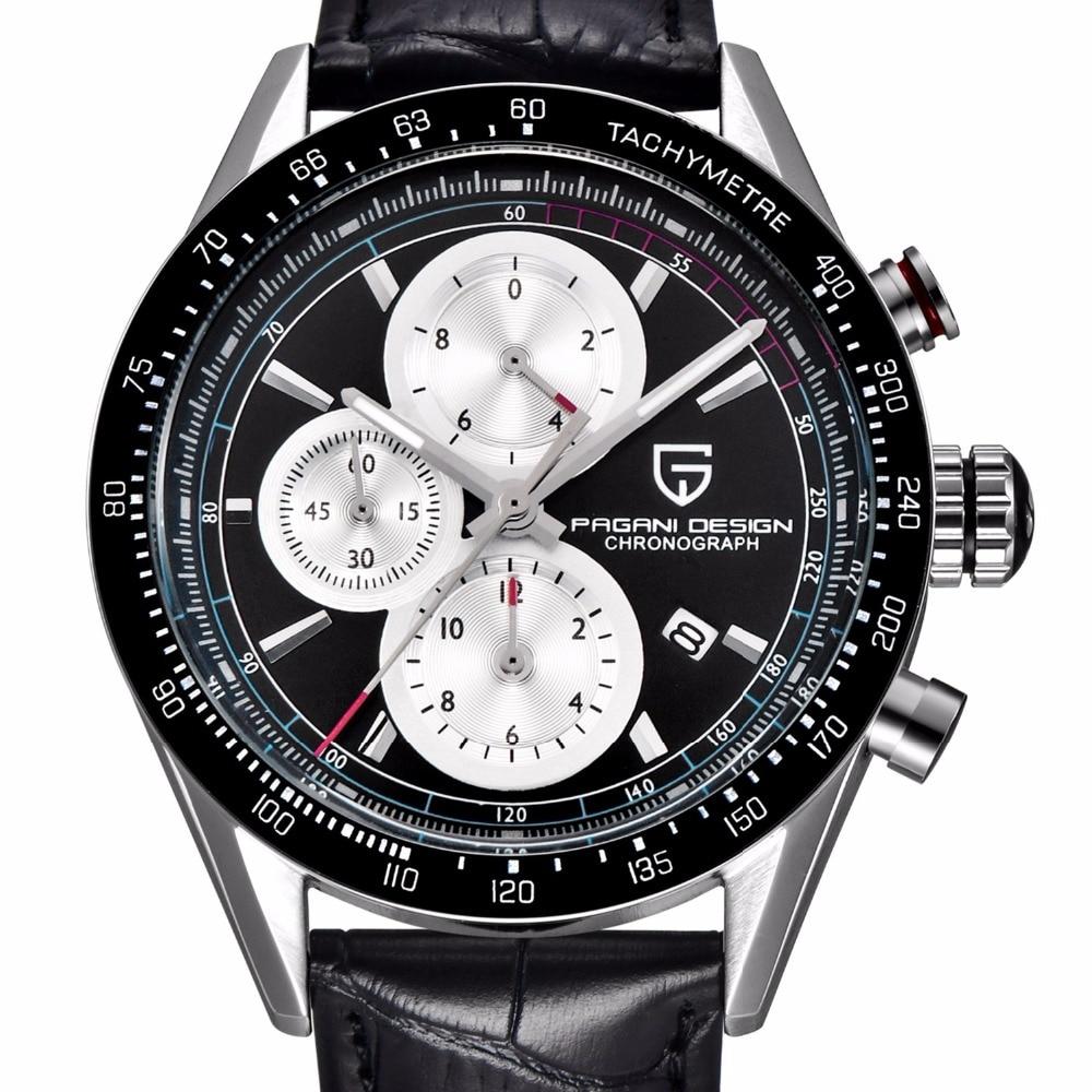 ФОТО Waterproof Chronograph Sport Men's Watches Dive 30M Brand Pagani Design Fashion Quartz Military Watch clock Relogio masculino