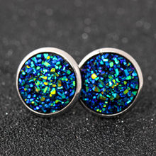 1 Pair Sell Shine Ear Clip Earrings For Women 10 Colors Round With Cubic Zircon Women elegant Jewelry Gift(China)