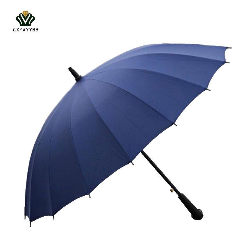 Large Women umbrella Rain Women Windproof male Walking Stick Umbrellas Men rainbow font b Golf b
