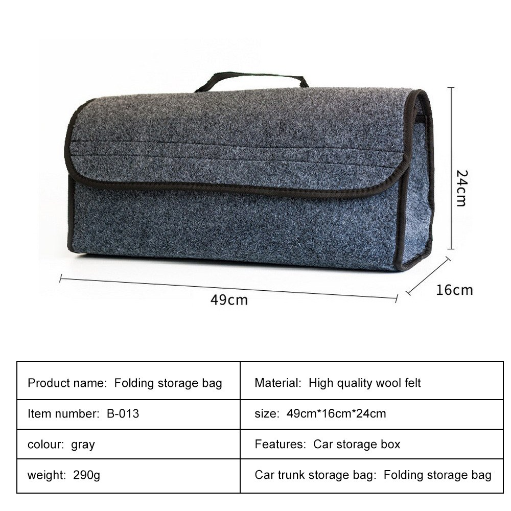 49 16 24cm High Quality Foldable Storage Bag Felt Cloth Collapse Bag Trunk Cargo Organizer Car Travel Organizer in Nets from Automobiles Motorcycles