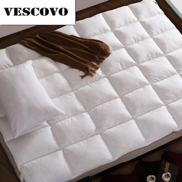 مرتبة من القطن 100% 400TC مزدوجة الطبقات 100% بطة بيضاء أسفل أوزة ريشة حشو السرير حصيرة