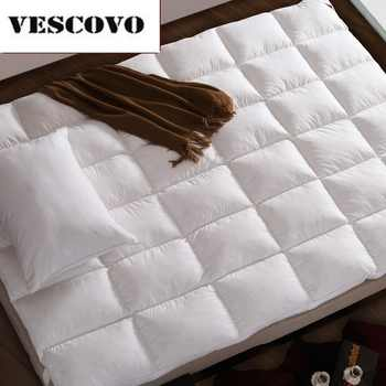100% Cotton 400TC Double Layers Mattress 100% White Duck Down Goose Feather Filler Bed Mat - SALE ITEM Furniture