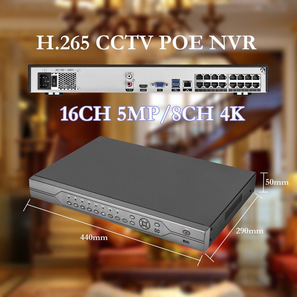 Gadinan H.265 16CH 5MP POE NVR Onvif 48В Для 4K 5MP 4MP 3MP 1080P POE IP камера сетевая видеокамера система видеонаблюдения CCTV
