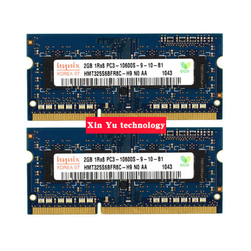 Garantía de por vida para Hynix DDR3 2 GB 1333 MHz PC3-10600S auténtico DDR 3 2G memoria RAM Notebook portátil 204PIN SODIMM