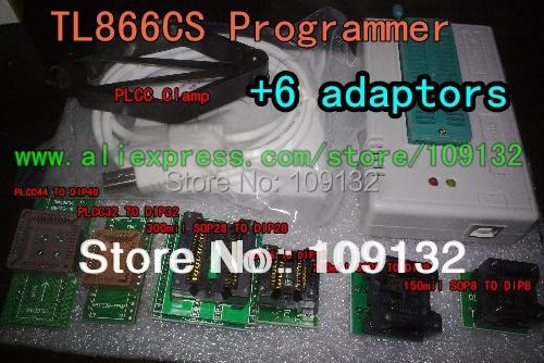Frete Grátis MiniPro TL866CS USB Programador Universal/Bios apoio Programador 13071 fichas + 6 adaptadores v6.5