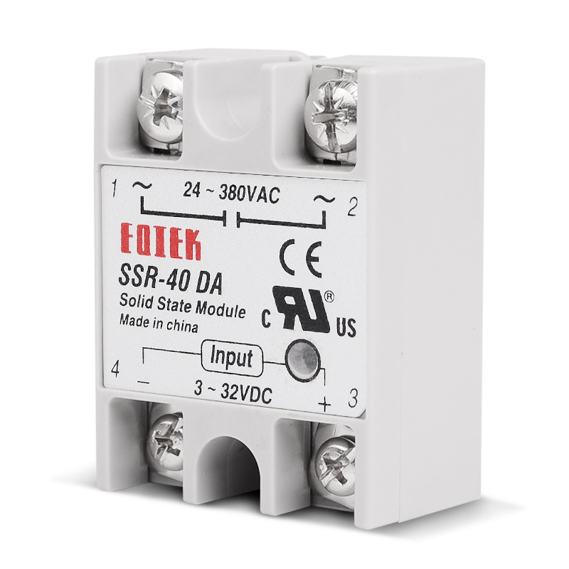 10 PCS/Lot Industrial Solid State Relay SSR 40DA 3-32V DC Input and 24-380VAC 40A AC Output Load DC-AC