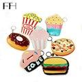 Creative mini Cartoon food cute cheap coin Purse For Girl women lovely key purse hamburger Cake Popcorn Kids Zipper Change purse