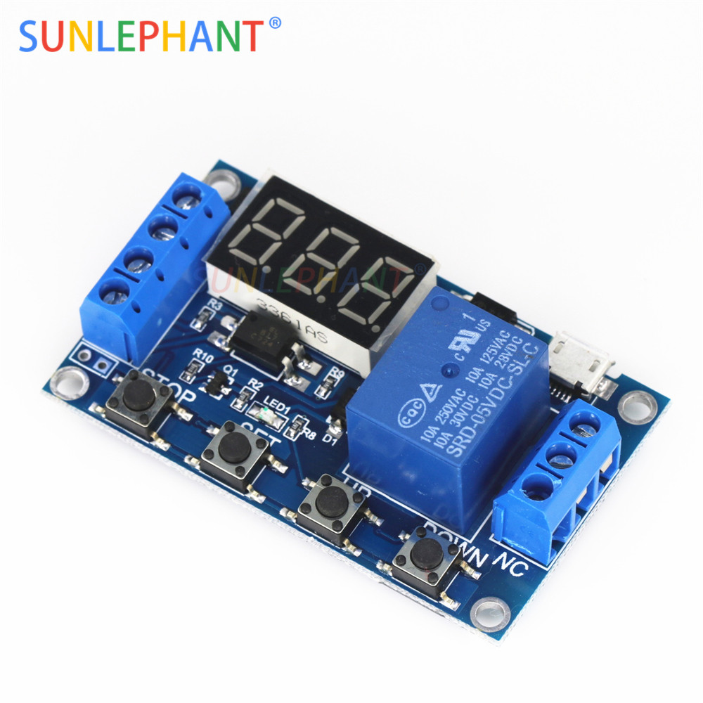 Hot Sale 1 Channel 5v Relay Module Time Delay Trigger Operating Off On Switch Timing Cycle 999 Minutes Board Rele