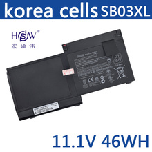New Genuine 11.25V 46wh 3950mAh SB03XL battery for Hp Elitebook 820 G1 Notebook Pc Hstnn-i13c 716726-421 E7u25ut
