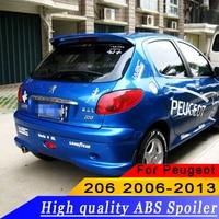 Für Peugeot 206 2006 2013 Hohe qualität ABS material hinten flügel spoiler primer oder DIY farbe 206 hinten dach spoiler|Spoiler & Flügel|Kraftfahrzeuge und Motorräder -