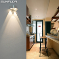 Hot Sale 3W LED Sconce Surface Mounted Indoor LED Wall Lamp Sliver Semi Circular  Modern LED Wall Light