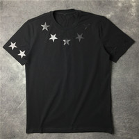 2018 Three Dimensional Plastic Stars Men And Women Lovers Loose Neutral Summer Fashion Short Sleeved T
