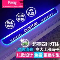 Бесплатная Доставка! 4 шт. LED порога Накладка Добро пожаловать педаль автомобиль Средства для укладки волос для Toyota Prius Горец Прадо