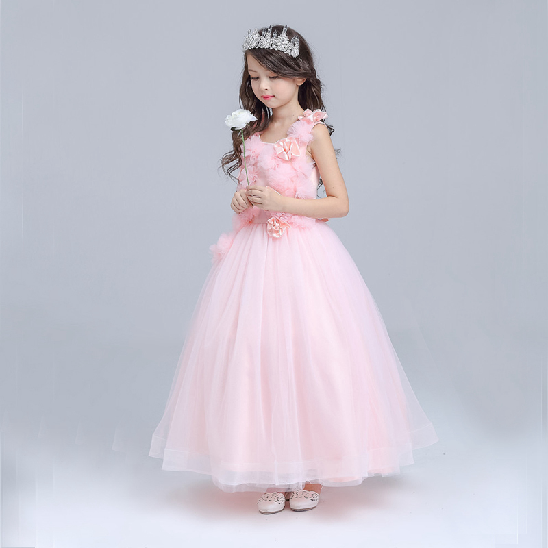 Children girl clothes 2018 Princess Dress Clothes Bow Ball Gown Tutu Party Dress 4 6 8 10 12 14 Years Teenage Kids Fancy Dress teenage girl party dress children 2016 summer flower lace princess dress junior girls celebration prom gown dresses kids clothes