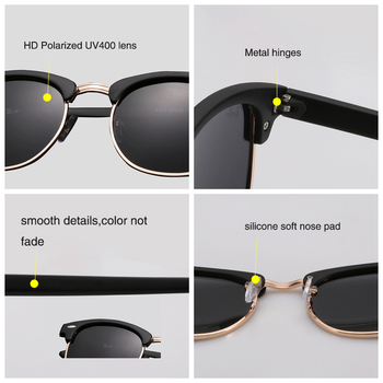 UV400  Polarized Sunglasses men women Classic cool retro Sun glasses Coating  man Driving Shades fashion male oculos 5