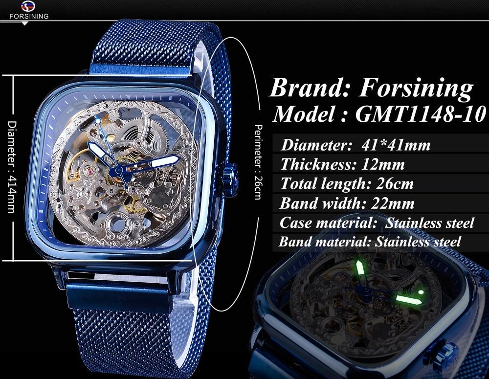 HTB1SXGlaL1H3KVjSZFHq6zKppXab Forsining Blue Watches For Mens Automatic Mechanical Fashion Dress Square Skeleton Wrist Watch Slim Mesh Steel Band Analog Clock