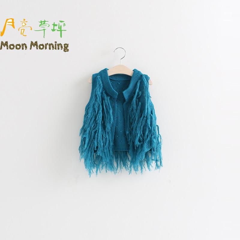 Moon Morning Spring Autumn Kids Vest Cotto Mandari...