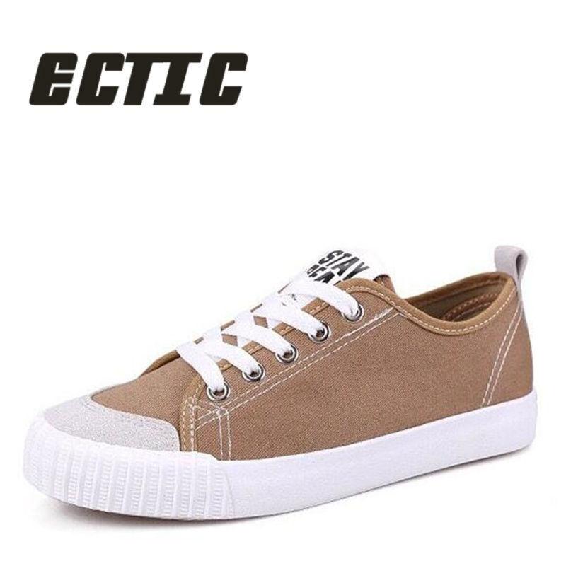 ECTIC 2018 Nuevo llega zapatos de lona de los hombres zapatos de las - Zapatos de hombre