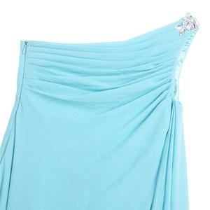 Image 4 - IEFiEL ילדי פרח בנות שמלת ילדים נסיכת אחד כתף ריינסטון שיפון שמלת מסיבת חתונת תחרות כדור שמלות שמלות