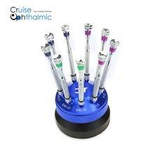 Новые 3T оптика оптометрический аппарат для 9 шт отвертки для ремонта с голубым держатель