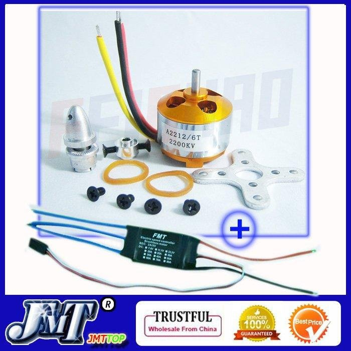 F02048-z1 A2212 2200KV Brushless Outrunner Motor W/Mount 6T + 30A ESC Controller For RC Quadcopter multi copter UFO  цены