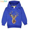 Jiuhehall 3-7 Years Children's Clothing Girls Beautiful Deer Printed Sweatshirts Long Sleeve Kids Hooded Clothing FCM117