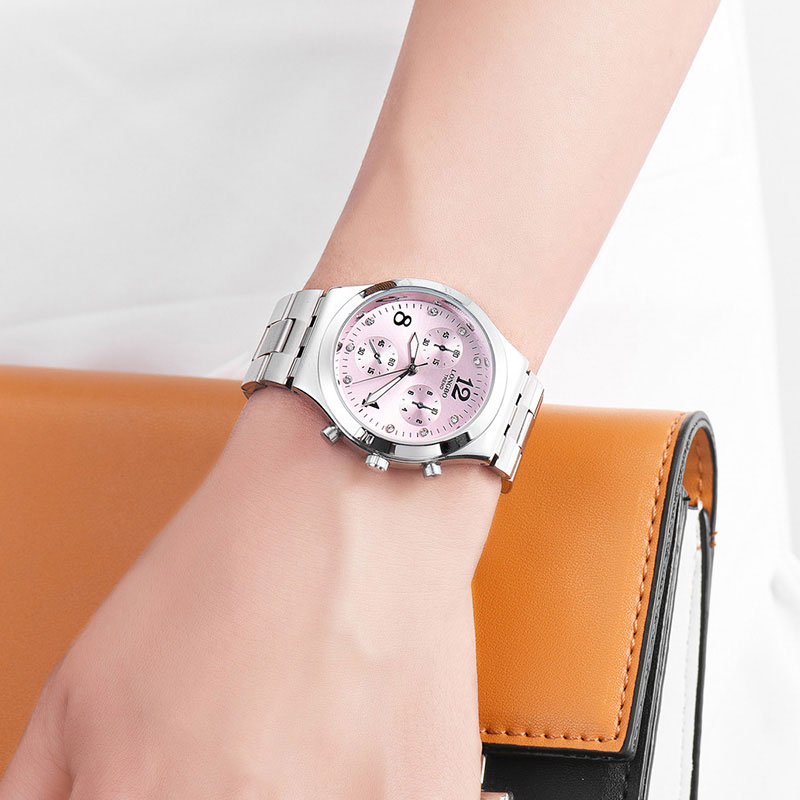 Longbo new 2018 quartz watch women watches ladies luxury brand steel wristwatches for female for Celebrity watches female 2018