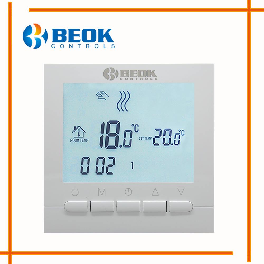 programovatelný termostat - BOT-313W Wired Digital Room Thermostat for Gas Boiler Heating Thermostat 3A White Backlight Programmable Boiler Thermoregulator