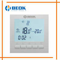 BOT-313W Wired Digital Room Thermostat for Gas Boiler Heating Thermostat 3A White Backlight Programmable Boiler Thermoregulator