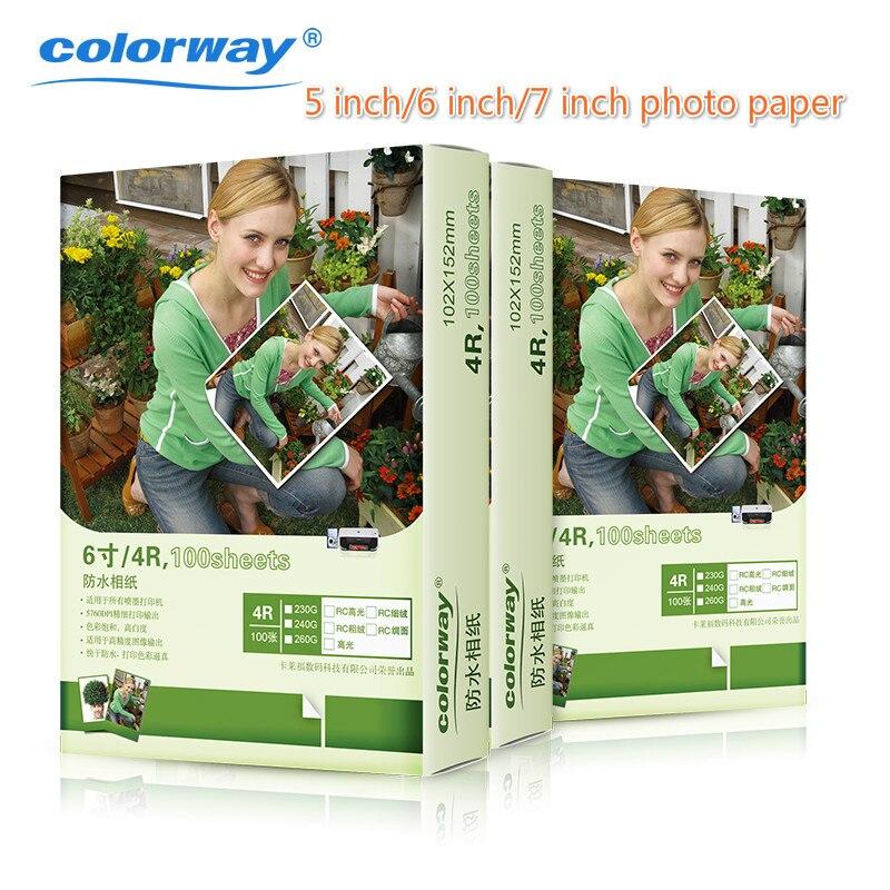 Colorway 5/ 6/ 7 inch 260g luminous watreproof  photo paper print paper 100pcs/lot