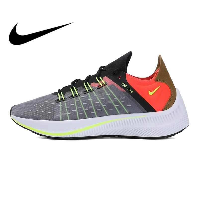 sports shoes ecead 6f2ab Original Authentic NIKE EXP-X14 Women s Running Shoes Sneakers Outdoor  Sport Designer Athletics Official Low