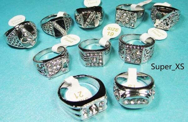 100 sztuk całej biżuterii moda emalia posrebrzane pierścienie wiele dla mężczyzn pierścień opakowaniach zbiorczych darmowa wysyłka RL009 w Pierścionki od Biżuteria i akcesoria na  Grupa 2