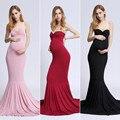 Moederschap Zeemeermin Foto Schieten jurk fotografie rekwisieten maxi Zwangerschap Kleding Fancy schieten foto zomer zwangere jurk H519
