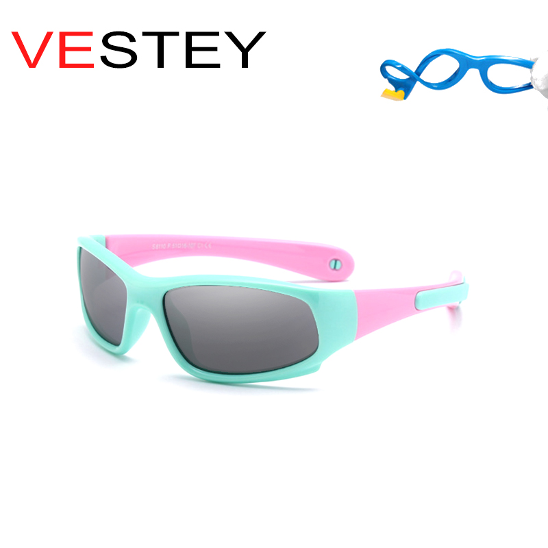 New 2018 Kids TR90 Polarized Sunglasses Coating Mirror Lens Children Boys Brand Girl Glasses Flexible Removable Oculos Legs
