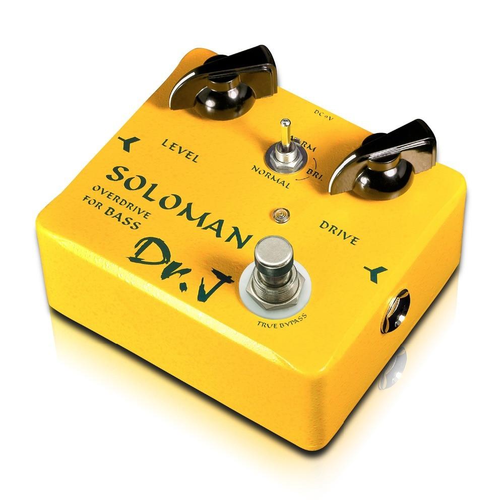Dr. J Soloman Bass Overdrive Effect Pedal Hand Made Electric Bass Effect Pedal Overdrive efeito True Bypass D52 D-52