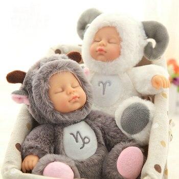 17 и 28 см сидят спящие девочки силиконовые реборн куклы двенадцать созвездий одевание спящие куклы Подарки для девочек день рождения
