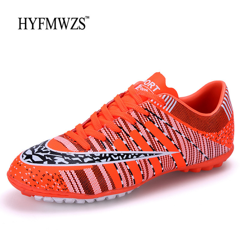 HYFMWZS Superfly Football Boots Soccer Shoes Men Superfly Breathable Football Shoes For Indoor Kids Soccer Cleats TF Chuteira indoor soccer shoes for men futsal soccer boots professional football shoes original athletic training soccer cleats tf trainer