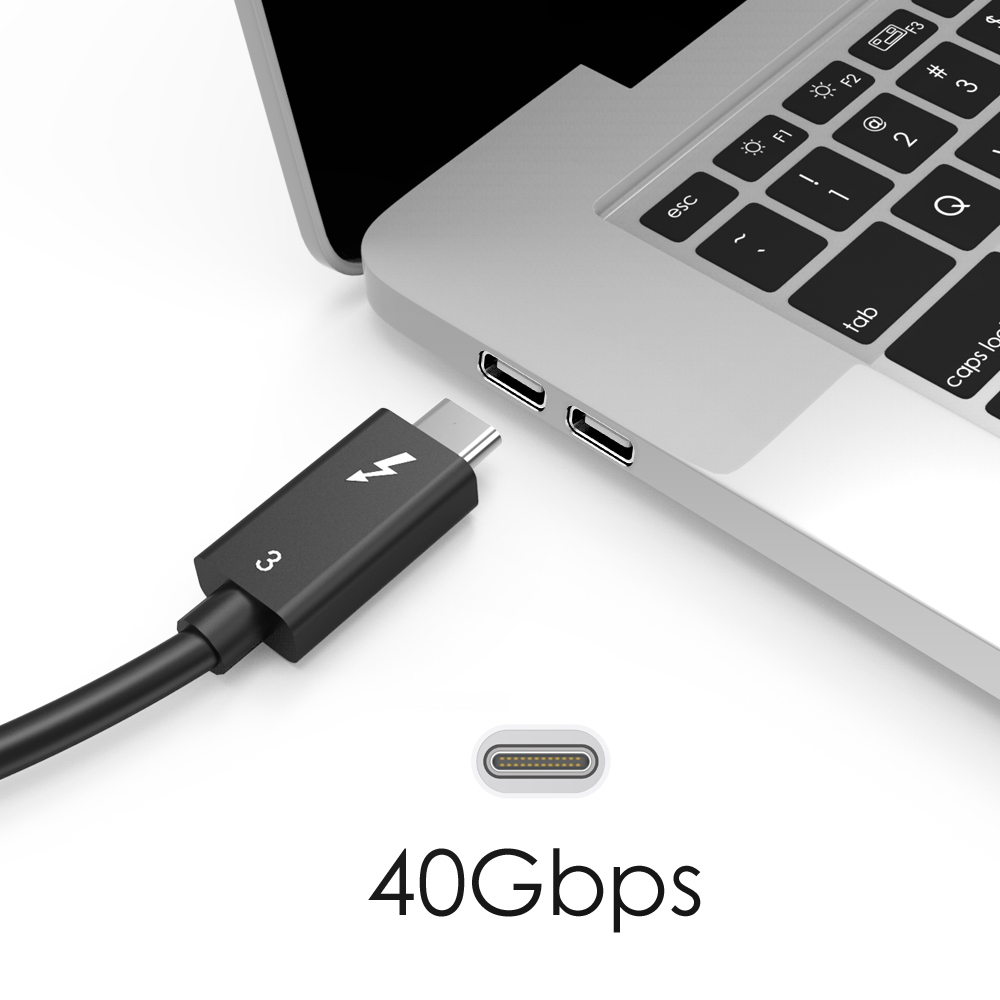Wavlink Thunderbolt 3 Cable USB C to USB C Cable fast Charger 5K& Dual 4K@60Hz video Display Cable Type C USB Cable For macbook