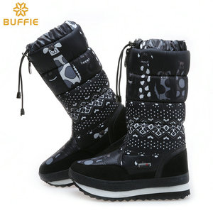 Image 4 - Natürliche wolle Winter stiefel mixed pelz Frauen Schnee Stiefel Warme schuhe Plus größe bis zu 41 schnelle zip setzen auf weibliche beliebte stil freies schiff