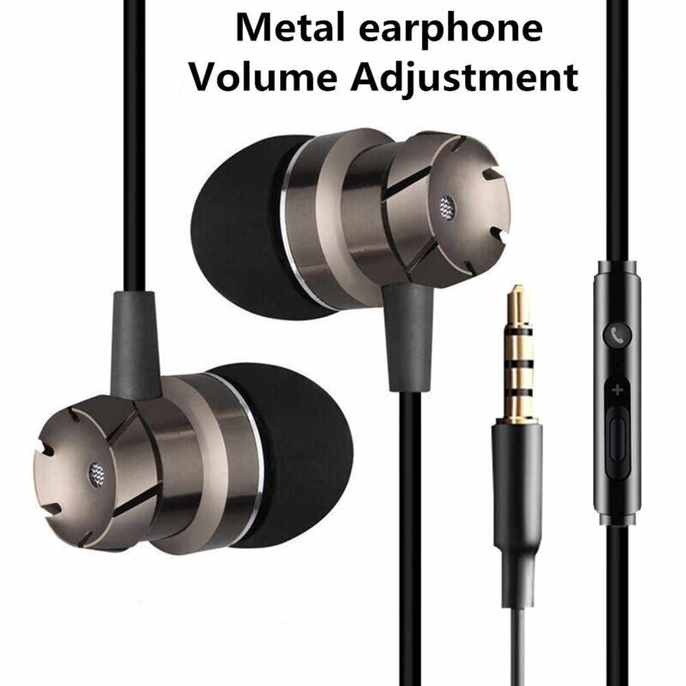 ספורט ב-אוזן אוזניות עם מיקרופון 3.5mm Wired סטריאו אוזניות דיבורית אוזניות אוזניות עבור Mp3 נגן iPhone Xiaomi נייד טלפון