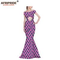 2019 африканские вечерние платья для женщин Анкара ткань ужин Коктейльные Вечерние праздничные Свадебные платья Дашики AFRIPRIDE A1925027