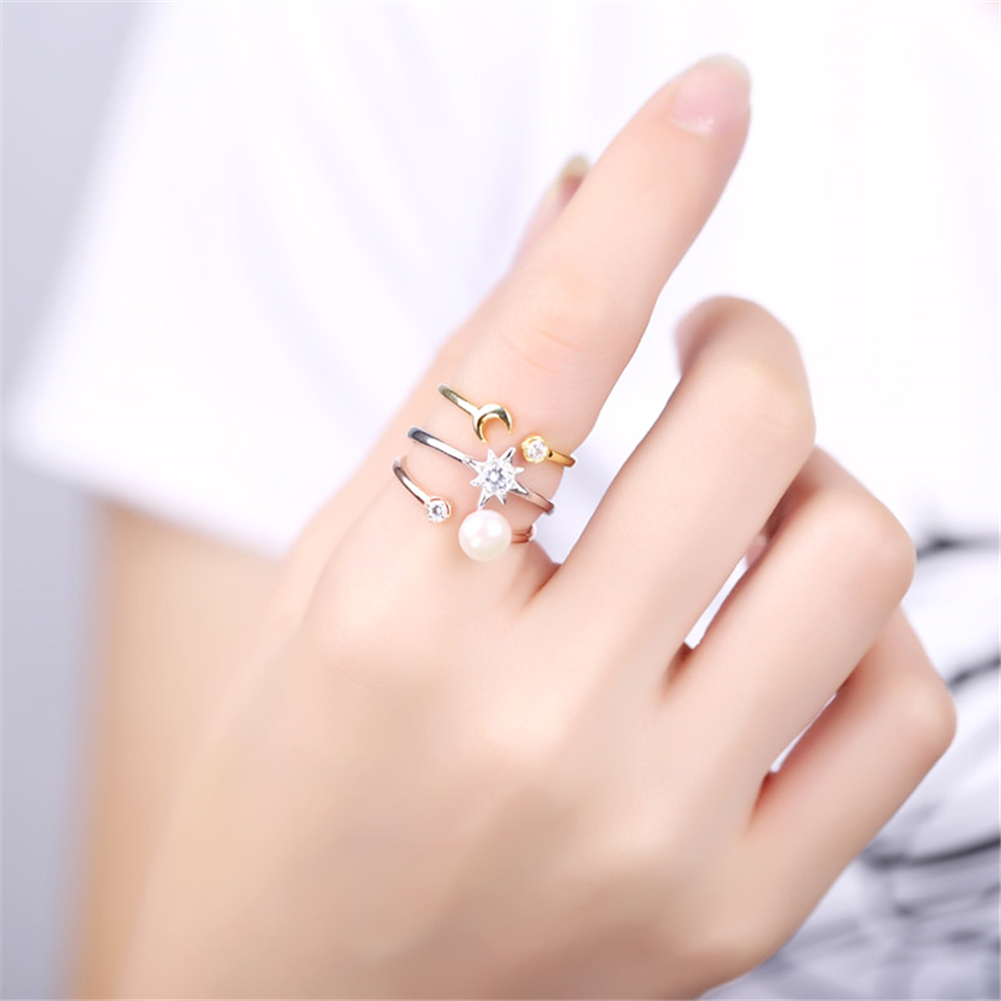 GoodTime 3 Colors Solid 925 Silver Ring Set Fine Jewelry for Women ...