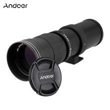 Andoer wysokiej jakości Kelda 420-800mm F/8.3-16 Super teleobiektyw instrukcja soczewka powiększająca z T- do montażu dla Canon EOS EF aparatu Nikon DSLR