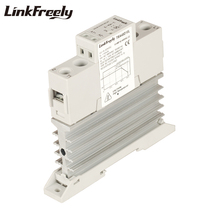 TRA48D10L 10A Integrated Heat Sink SSR Solid State Relay Din Rail 5V 12V 24V 32VDC Input 42-480VAC Output Electric Current