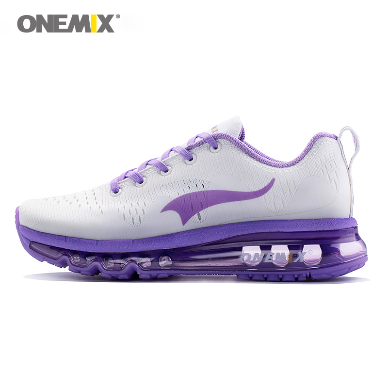 Onemix women running shoes women sports shoes sneakers damping cushion breathable knit mesh vamp for outdoor walking shoes women sneakers men running winter thermal shoes ultra light damping air sole walking outdoor training sports shoes plus 36 45