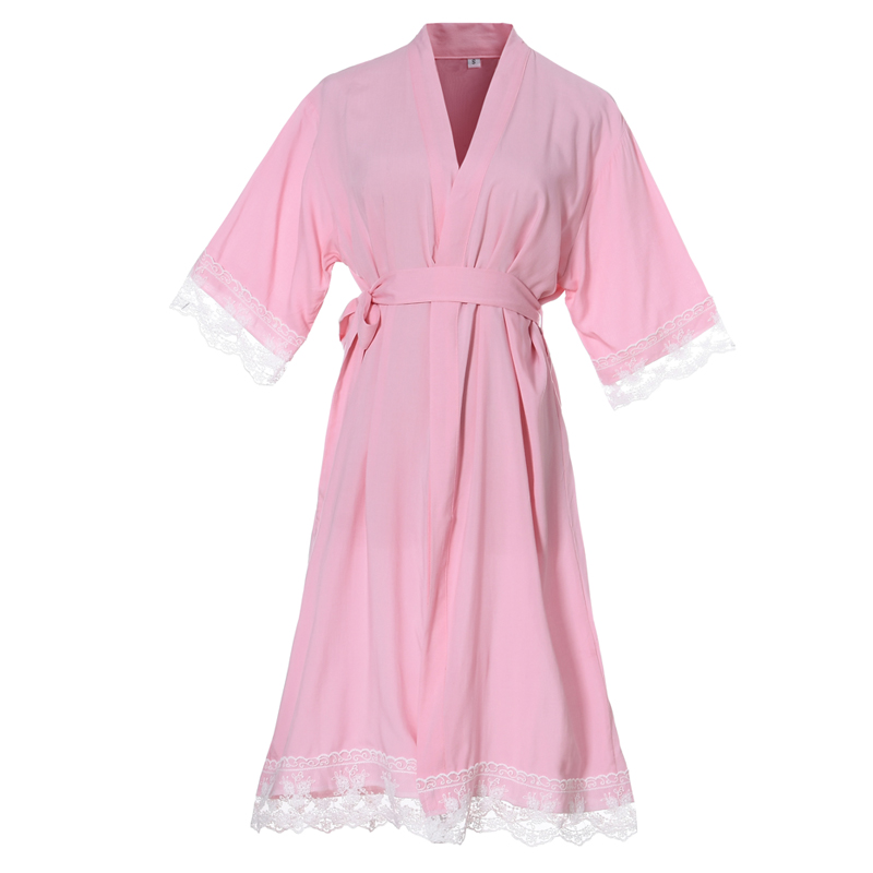 Mr & Mrs Right Wedding Party Robe Sexy Lace Kimono Cotton Soft Bride Pajamas Solid Robes Girls Women Bathrobes Nursing Robes