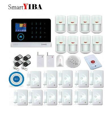 SmartYIBA WIFI GSM Alarmes sans fil capteur infrarouge métal télécommande Kit SIM SMS alarme capteur de rupture de verre alarme de choc