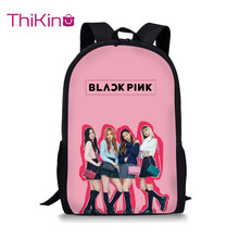 Thikin Blackpink Girls Group KPop Students School Bag for Teenagers Backpack Travel Package Shopping Shoulder Women Mochila