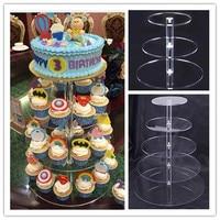 Urijk Acrylic Cake Stand Round Cup Cupcake Holder Wedding Birthday Party Decorations Events Dessert Sugarcrafts Display